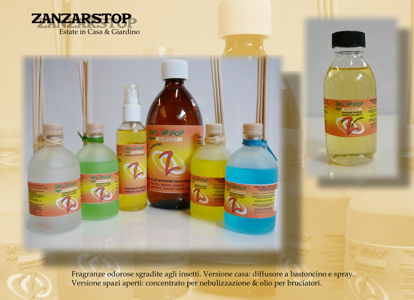 Picture of ZANZARSTOP AIR REFRESHNER WITH BAMBOO STICKS AND ESSENTIAL OILS OF EUKALYPTUS 100ML