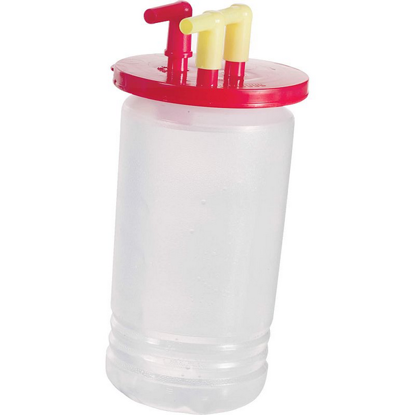 Picture of SINGLE SUCTION VASE 1LT WITH RED CAP