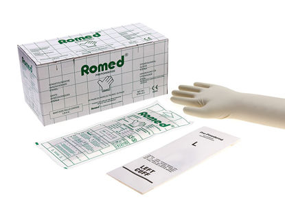 Picture of GLOVES EXAMINATION GYNECOLOGICAL MEDIUM ROMED