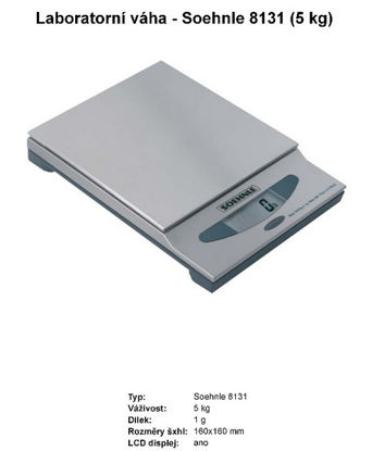 Picture of DIGITAL PRECISION SCALE 5KG  8131.01 SOEHNLE