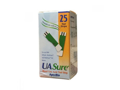 Picture of UA SURE TEST STRIPS OF 25PCS FOR THE MEASUREMENT OF URIC ACID