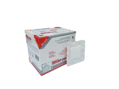 Picture of STERILE ADHESIVE WOUND DRESSING 10X10CM BIODRESS NON WOVEN RAYS