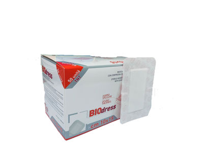 Picture of STERILE ADHESIVE WOUND DRESSING 10X15CM BIODRESS NON WOVEN RAYS